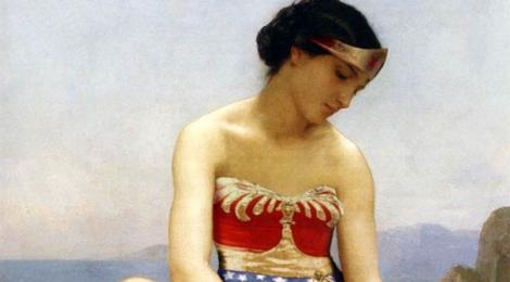 Des peintures classiques...avec des super-héros !!!