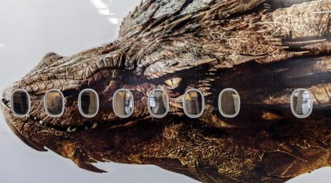 Le dragon Smaug sur un avion !