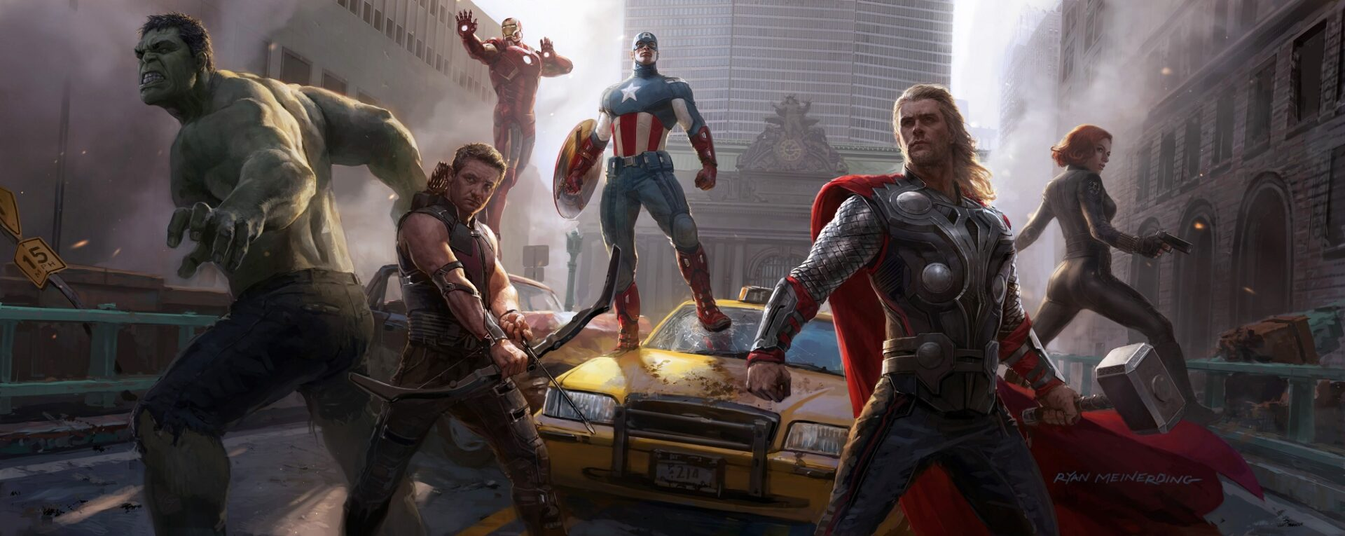 concept art marvel avengers