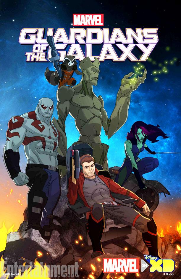 les gardiens de la galaxie série animée poster