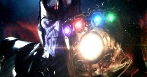 Thanos en possession du Gantelet de l'Infini, une photo leakée de la conférence de presse