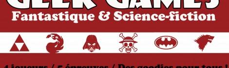 Geek Games : offre de lancement et offre adhérent !
