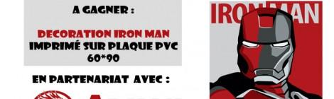 JEU CONCOURS : Décoration Iron Man